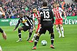 14.01.2018, RheinEnergieStadion, Koeln, GER, 1.FBL., 1. FC K&ouml;ln vs. Borussia M&ouml;nchengladbach<br /> <br /> im Bild / picture shows: <br /> Denis Zakaria (Gladbach #8), gegen Marco H&ouml;ger/Hoeger (FC K&ouml;ln #6),  Lars Stindl (Gladbach #13), Simon Zoller (FC K&ouml;ln #11),   <br /> <br /> <br /> Foto &copy; nordphoto / Meuter