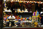 A balloon stall operator at the greater Baton Rouge State Fair Louisiana Thursday Oct 23 2008. Americans will go to the polls on Nov 4, at a time of great Financial crisis, war in Iraq and Afghanistan, to elect a  new President. A vote, that will affect not only America, but the whole world. Photo by Eyal Warshavsky .
