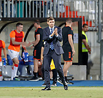 01.08.2019 Progres Niederkorn v Rangers: Steven Gerrard at full time