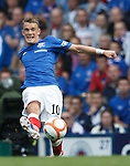 Dean Shiels cracks one off in the direction of goal