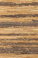 "Name: Zebrano<br /> Style: Metamorphosis<br /> Product Number: CB0603ZEBRANO (12""x18"")<br /> Description: Zebrano, a hand cut natural stone mosaic,  in Emperador Light, Emperador Dark, Travertine Noce, Saint Laurent polished."