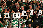 Nottingham Forest 2 Yeovil Town 5, 18/05/2007. City Ground, League One Play Off Semi Final 2nd Leg. Supporters of Yeovil Town displaying a message before their club's League One play-off semi-final match against Nottingham Forest at the City Ground. Forest had won the first leg by 2 goals to nil at Yeovil the previous week but were defeated by 5 goals to 2 after extra time and missed out on the play-off final at Wembley. Yeovil went on to play Blackpool in the final for the one remaining promotion place to the Championship. Photo by Colin McPherson.