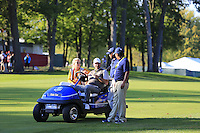 Thomas Bjorn (Vice-Captain Team Europe) watching the play during Saturday afternoon Fourball at the Ryder Cup, Hazeltine National Golf Club, Chaska, Minnesota, USA.  01/10/2016<br /> Picture: Golffile | Fran Caffrey<br /> <br /> <br /> All photo usage must carry mandatory copyright credit (&copy; Golffile | Fran Caffrey)