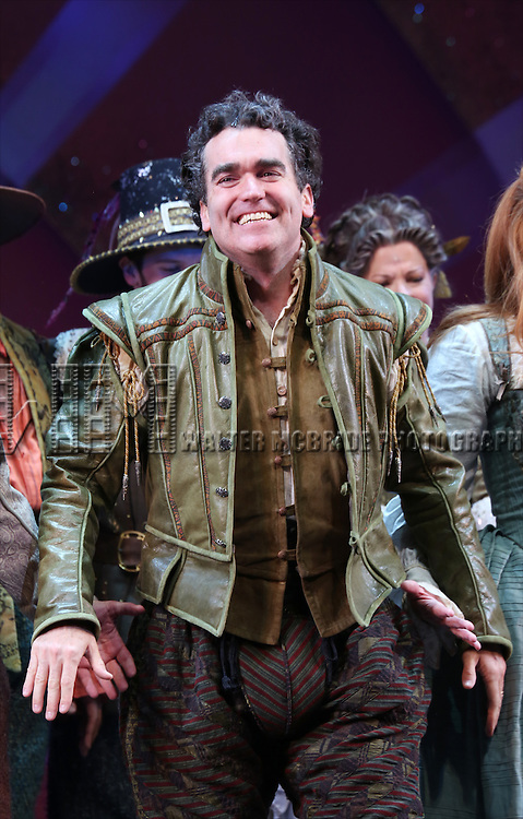 Brian d'Arcy James during the Broadway Opening Night Curtain Call for 'Something Rotten' at the St. James Theatre on April 22, 2015 in New York City.
