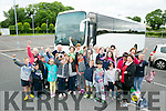 Chernobyl kids and Tralee host families on their way to see Fungi the Dolphin in Dingle on Tuesday