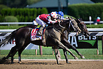 SARATOGA SPRING,NY-AUG 24: Midnight Bisou,ridden by Mike Smith,wins the Personal Ensign Stakes at Saratoga Race Track on August 24,2019 in Saratoga Spring,New York. Kaz Ishida/Eclipse Sportswire/CSM