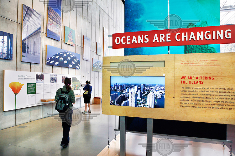 An exhibition about climate change at the California Academy of Science, San Francisco, California.