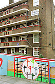 Mural on Rockingham Estate, Elephant and Castle, London.