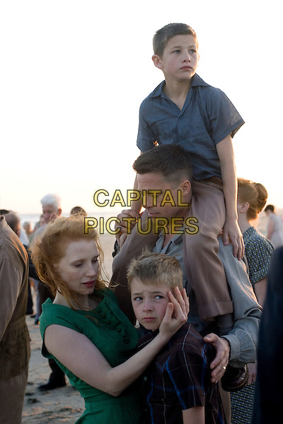 Jessica Chastain, Laramie Eppler, Brad Pitt and Tye Sheridan.in The Tree of Life.*Filmstill - Editorial Use Only*.CAP/NFS.Supplied by Capital Pictures.