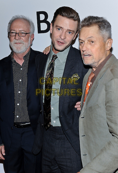 13 September 2016 - Toronto, Ontario Canada - Gary Goetzman, Justin Timberlake, Jonathan Demme. &quot;Justin Timberlake + The Tennessee Kids&quot; Premiere during the 2016 Toronto International Film Festival held at TIFF Bell Lightbox. <br /> CAP/ADM/BPC<br /> &copy;BPC/ADM/Capital Pictures