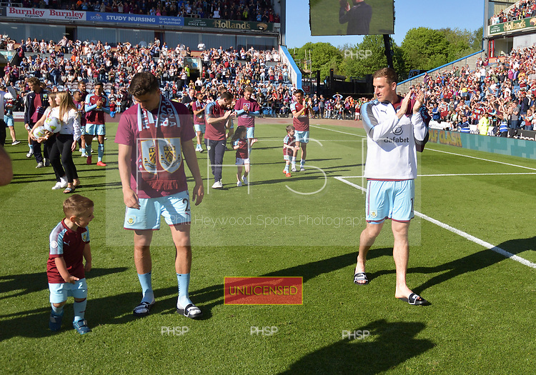 13/05/2018 Premier League Burnley v AFC Bournemouth<br /> <br /> Matthew Lowton and Chris Wood