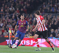 31.03.2012 Barcelona, Spain. Picture shoe Javier Mascherano in action during La Liga match between FC Barcelona against Athletico de Bilbao at Camp Nou