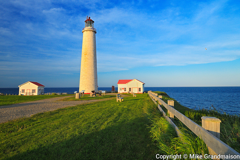 Tallest lighthgouse in Canada. Gulf of St. Lawrence<br /> Cap-des-rosiers<br /> Quebec<br /> Canada