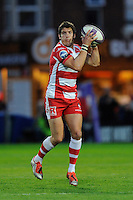 James Hook of Gloucester Rugby during the European Rugby Challenge Cup semi final match between Gloucester Rugby and Exeter Chiefs at Kingsholm Stadium on Saturday 18th April 2015 (Photo by Rob Munro)