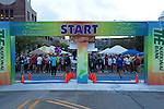 Making preparations for the start of the Quad Cities Marathon 2010