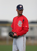 Washington Nationals minor leaguer Juan Ovalles during Spring Training at the Carl Barger Training Complex on March 19, 2007 in Melbourne, Florida.  (Mike Janes/Four Seam Images)
