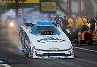 Apr 12, 2019; Baytown, TX, USA; NHRA funny car driver John Force during qualifying for the Springnationals at Houston Raceway Park. Mandatory Credit: Mark J. Rebilas-USA TODAY Sports