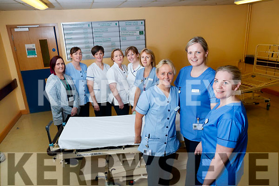 University Hospital Kerry staff, pictured on Tuesday afternoon last, as they will be working on Christmas Eve and Christmas Day l-r: Therese Carroll, Linda O'Connor, Joan O'Connor, Noreen Maunsell, Breda Nolan, Deirdre Moss, Andrea O'Connor, Katie Galvin and Eileen Horan.