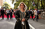NewYork, United States, October 10, 2011..Revelers take part in the 67th annual Columbus Day Parade in New York October 10 2011. VIEWpress / Kena Betancur. .More than 35,000 marchers and more than 100 bands and floats participate in the parade each year.Local media reported.