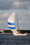 Sailboat Sailing on the Charleston Harbor with Spinnaker