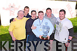POWERHOUSE GYM: Lenny O'Sullivan who broke the Irish, European & World record at the Irish Drug Free Bench Press Championship with members of the Powerhouse Gym, Tralee on Monday l-r: Lenny (Snr) O'Sullivan, Sean Purcell, Quinten O'Sullivan, Lenny O'Sullivan, Mikey Kennedy and Eugene O'Keeffe.