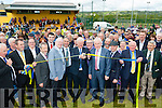 Aogan O Fearghail, President of the GAA cuts the tape to officially open Cordal GAA pitch on Sunday