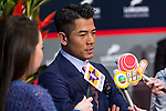 Ambassador of Longines and actor Aaron Kwok attend the Longines Hong Kong Masters 2015 at the Asiaworld Expo on 15 February 2015 in Hong Kong, China. Photo by Jerome Favre / Power Sport Images