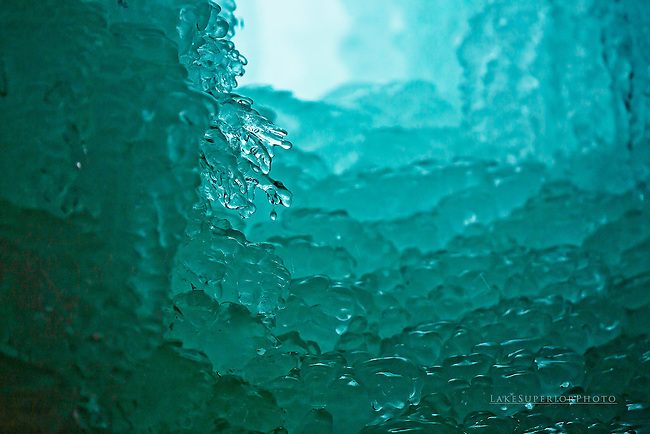 """liquid litany"" blue ice abstract"