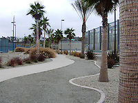 South Bay Water Reclamation Plant, 2411 Dairy Mart Road, SD 92154. Developed to showcase the use of reclaimed water. A wide variety of plants were selected for demonstration garden. Gail Garbini, landscape architect