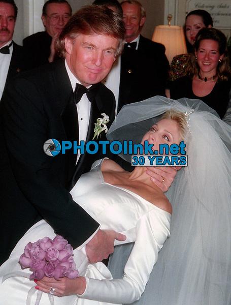 Donald Trump and Marla Maples wedding 1993-Matt Calamari in background<br /> Photo By John Barrett/PHOTOlink