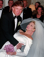 Donald Trump and Marla Maples wedding 1993-Matt Calamari in background<br /> Photo By John Barrett/PHOTOlink