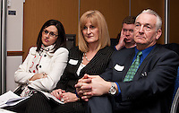 The Go Direct Lettings team listen to keynote speaker Kevin Green - from left are Laura Asimakis-Mundy, Lynda Holmes-Kelly and Don Holmes