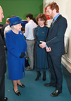 08 March 2016 - London, England - Queen Elizabeth II meets actor and actress husband and wife Helen McCrory and Damian Lewis at the Prince's Trust at the Prince's Trust Centre in Kennington in London. Photo Credit: Alpha Press/AdMedia