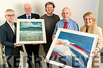 Winners of the Kerry's Eye, John Hurley Painting draw, From Left: Colin Lacey, Editor Kerry's Eye, Jack McCarthy, Aghadoe, Killarney, John Hurley, Artist, Brendan Kennelly, Marketing Manager Kerry's Eye and Teresa Nolan, Ard Na Li, Tralee.