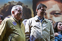 ATEN&Ccedil;&Atilde;O EDITOR: FOTO EMBARGADA PARA VE&Iacute;CULOS INTERNACIONAIS. -&nbsp;SAO PAULO, SP, 29 DE SETEMBRO 2012 - ELEI&Ccedil;&Otilde;ES 2012 - &nbsp;FERNANDO HADDAD -O Candidato a prefeitura de Sao Paulo Fernando haddad participou de um com&iacute;cio na noite deste s&aacute;bado em Sao Miguel Paulista na zona leste da cidade. No com&iacute;cio esteve presente o es- presidente Luiz Inacio lula da silva, ministra da Cultura Marta Suplicy e o Ministro da educa&ccedil;&atilde;o Aloisio Mercadante. Na foto Lula e Fernando Haddad<br /> <br /> Local: Pra&ccedil;a Padre Aleixo Monteiro Mafra<br /> VAGNER CAMPOS/ BRAZIL PHOTO PRESS