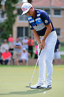 Rickie Fowler (USA) watches his putt on 2 during round 3 of the Honda Classic, PGA National, Palm Beach Gardens, West Palm Beach, Florida, USA. 2/25/2017.<br /> Picture: Golffile | Ken Murray<br /> <br /> <br /> All photo usage must carry mandatory copyright credit (&copy; Golffile | Ken Murray)