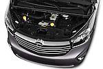 Car Stock 2015 Opel Vivaro Sportive 4 Door Combi 2WD Engine high angle detail view