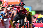 Dylan van Baarle (NED) Team Ineos wins Stage 8 of the Criterium du Dauphine 2019, running 113.5km from Cluses to Champery, Switzerland. 16th June 2019.<br /> Picture: ASO/Alex Broadway | Cyclefile<br /> All photos usage must carry mandatory copyright credit (© Cyclefile | ASO/Alex Broadway)