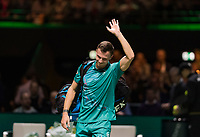 Rotterdam, The Netherlands, 14 Februari 2019, ABNAMRO World Tennis Tournament, Ahoy, quarter final, Marton Fucsovics (HUN),<br /> Photo: www.tennisimages.com/Henk Koster