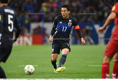 Makoto Hasebe (JPN),<br /> MARCH 24, 2016 - Football / Soccer :<br /> FIFA World Cup Russia 2018 Asian Qualifier Second Round Group E match between Japan 5-0 Afghanistan at Saitama Stadium 2002 in Saitama, Japan. (Photo by Takamoto Tokuhara/AFLO)