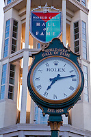 A huge Rolex Clock is seen at the World Golf Hall of Fame in St. Augustine, Florida Friday April 26, 2013. Located in The World Golf Village, the World Golf Hall of Fame features exhibits on the game's history, heritage, and techniques and a Hall of Fame.