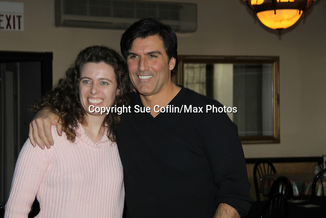 All My Children's Vincent Irizarry poses with Lyn Orsatti as he entertains his fans on February 6, 2011 with a Q&A, antidotes, photos and autographs at Uncle Vinnie's Comedy Club in Point Pleasant, New Jersey. (Photo by Sue Coflin/Max Photos)
