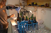Samples of offical control, agrement. Odile Audier, owner. Chateau la Grace Dieu les Menuts, Saint Emilion, Bordeaux, France