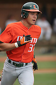 Kevin Diego of the Miami Hurricanes vs. the Virginia Cavaliers: March 24th, 2007 at Davenport Field in Charlottesville, VA.  Photo copyright Mike Janes Photography 2007.