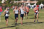 November 2, 2013; Malibu, CA, USA; Saint Mary's runner Matt Devries (70), Saint Mary's runner Chris Garcia (73), Saint Mary's runner Trevor Araujo (68), and Pepperdine runner Nick Blanchard (44) during the WCC Cross Country Championship at Alumni Park.