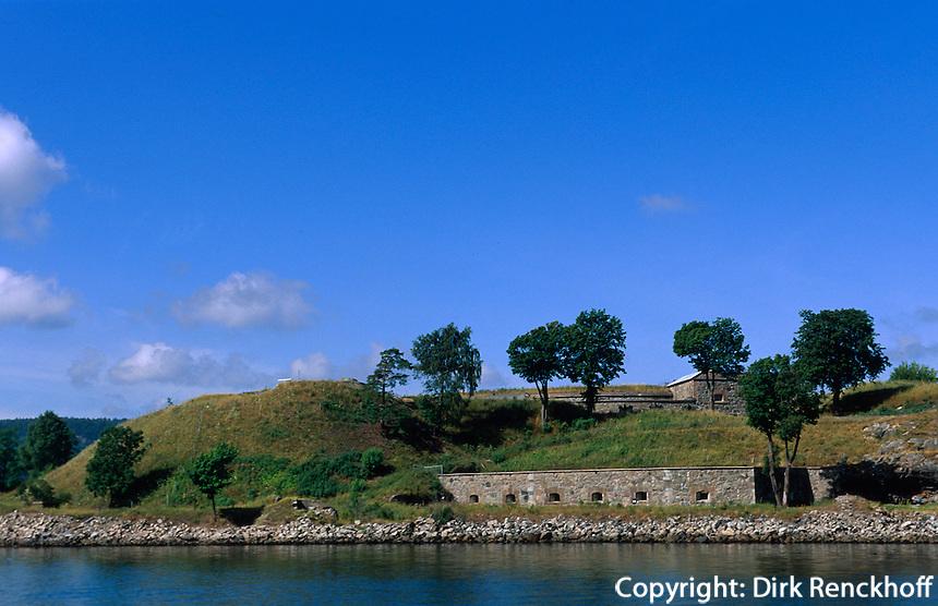 Norwegen, Drøbak bei Oslo, Festung auf der Insel Oscarsborg