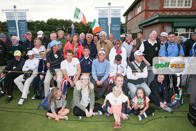 Devon and Irish supporters at the Closing Ceremony where GB&amp;Ireland win The Walker Cup 2015 played at Royal Lytham and St Anne's, Lytham St Anne's, Lancashire, England. 13/09/2015. Picture: Golffile | David Lloyd<br /> <br /> All photos usage must carry mandatory copyright credit (&copy; Golffile | David Lloyd)