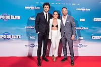 "Maria Leon, Miki Esparbe and Joaquin Mazon during the premiere of ""Cuerpo de Elite"" at Capitol cinema. Madrid. August 25, 2016. (ALTERPHOTOS/Rodrigo Jimenez) /NORTEPHOTO"