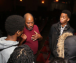 Lawrence Clayton and Cast members of 'The Color Purple' host a meet and greet with kids from PAL at The Jacobs Theatre on December 7, 2016 in New York City.