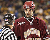 Brian Boyle - The Boston University Terriers defeated the Boston College Eagles 2-1 in overtime in the March 18, 2006 Hockey East Final at the TD Banknorth Garden in Boston, MA.